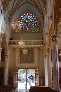 En el interior del Santuario