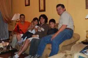 Frank y parte de su familia
