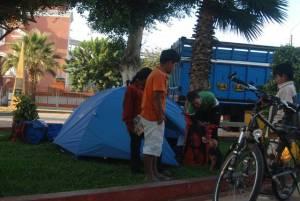 Camping en el parque de Mórrope
