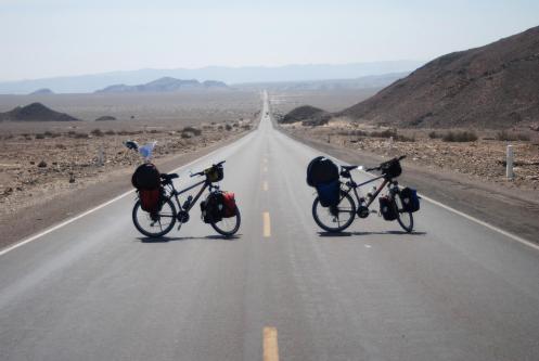 Bicis en el desierto de Nazca