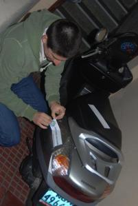 En la moto de José Antonio