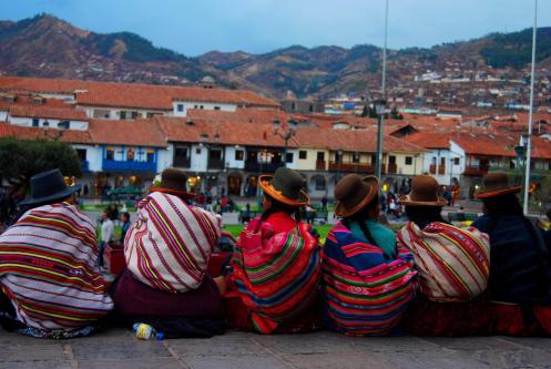 Campesinas en el Centro de Cusco