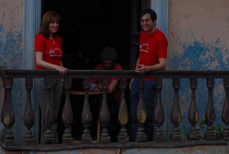 desde el balcon del Cafe Chuquiago