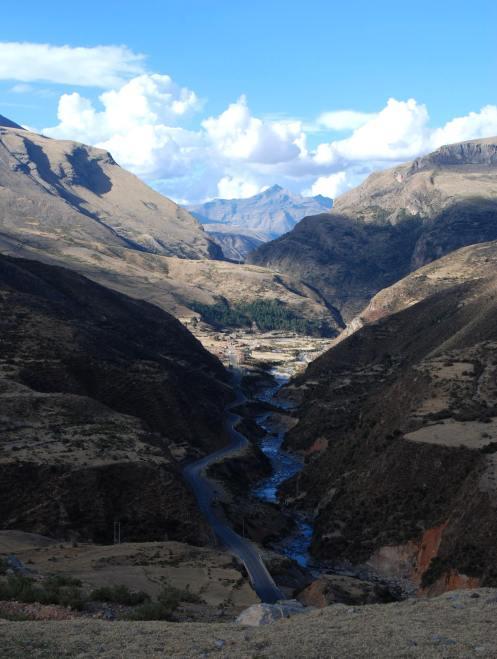 Al lado del Cañón de Apurimac