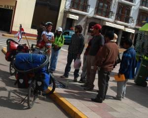 Venta en el parque de Puno