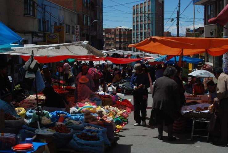 Venta informal en La Paz