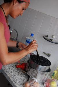 Cocinando Frijoles en Argentina