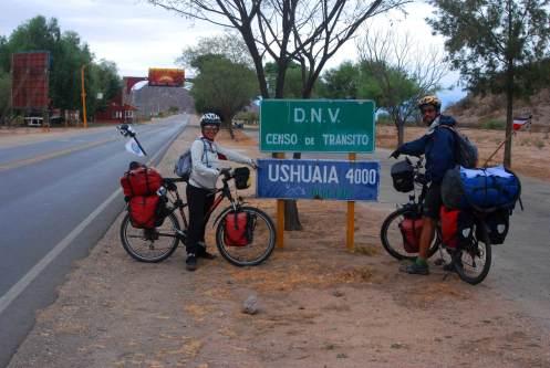 4000 km para llegar a Ushuaia