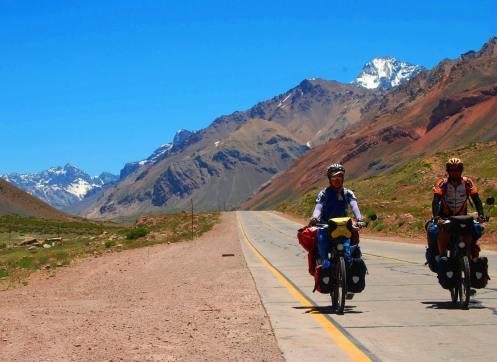 Cruzando la cordillera de Los Andes