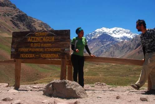 Frente al Aconcagua