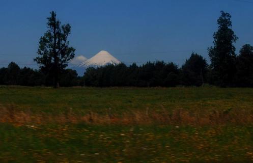 El volcán nevado de Osorno