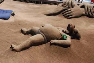 Homero en la arena
