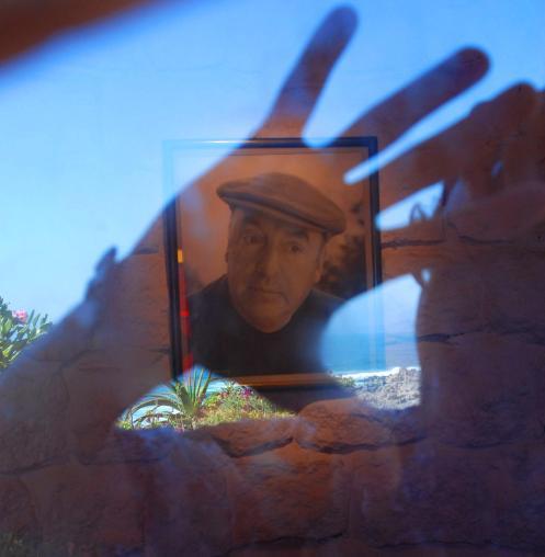 Reflejo del retrato de Neruda