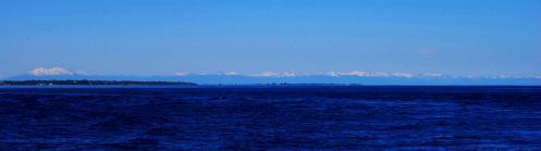 Vista de nevados desde el mar