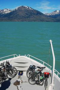 Las bicis en el barco