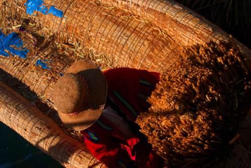 balsa de totora, Lago Titicaca