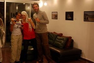 con Francis y Hellen