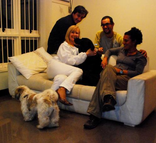 Everaldo y Martha con General y Flocky