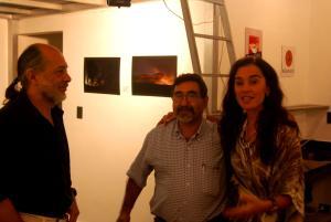 María Eugenia con artistas plásticos de Bs As