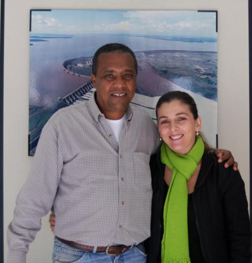 Simone y Rogerio del sindicato de Foz de Iguazu