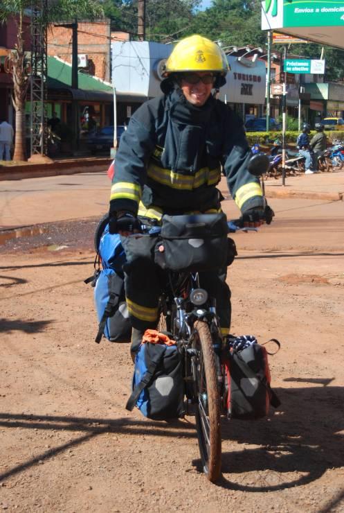 Wagner como un bombero ciclista