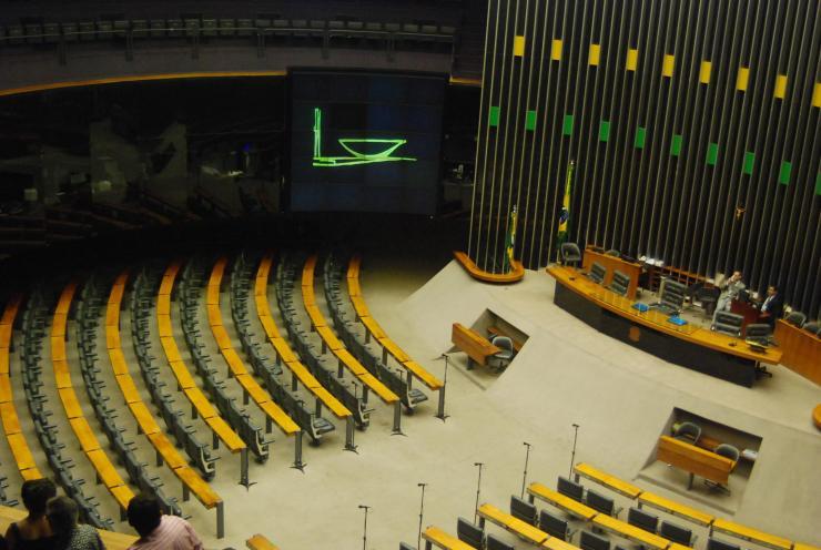 Cámara de diputados -dentro del tazón-