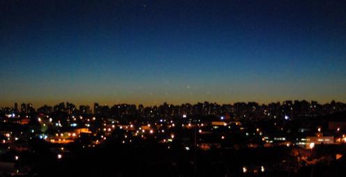 Curitiba al atardecer