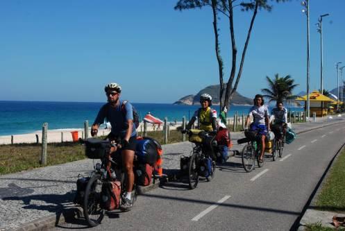Entrando a Río de Janeiro en bici