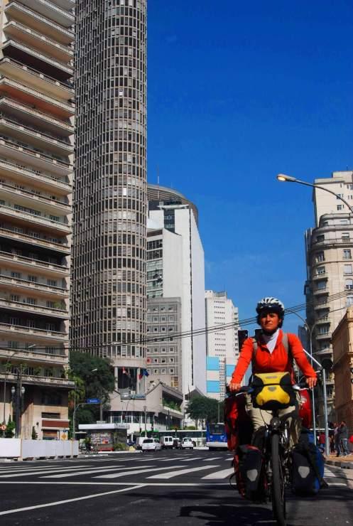 Entrando a Sao Paulo en bici