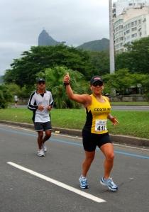 Kattya Sanchez en el maratón de Río
