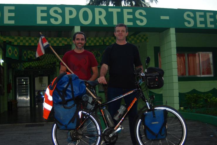 Rogerio y David de la Secretaria de Deportes de Sao Sebastiao