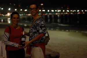 una botella de Vino en Copacabana