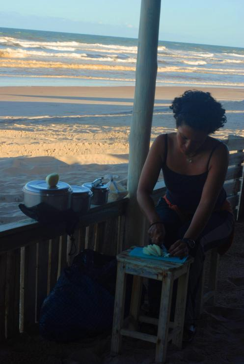 Cocinando frente a la playa