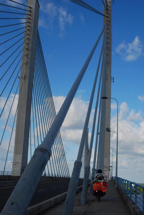 Cruzando el puente de Aracajú
