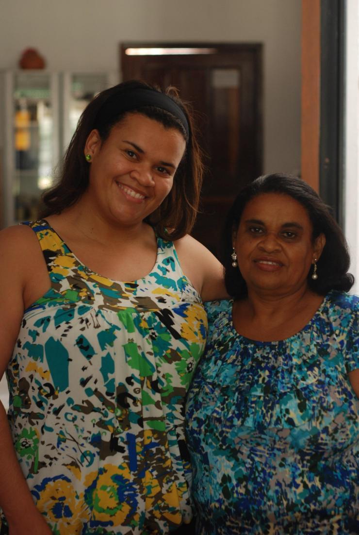 María Luzia y su madre Augusta