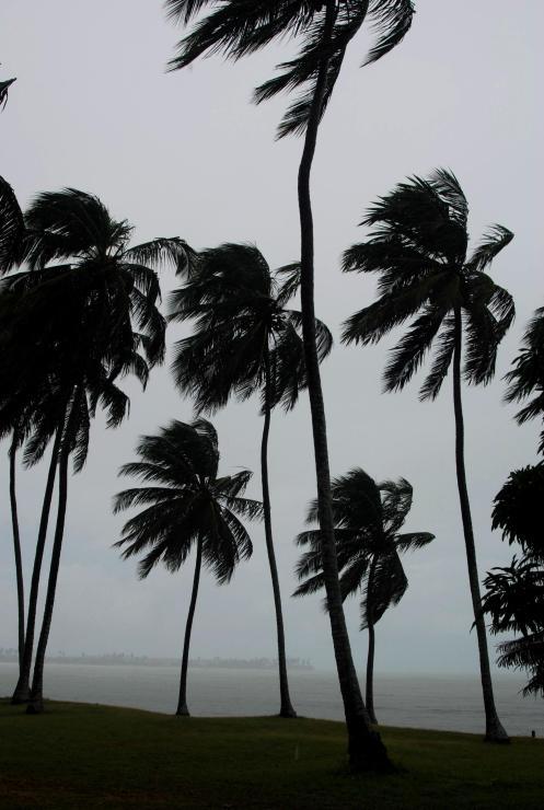 viento y lluvia