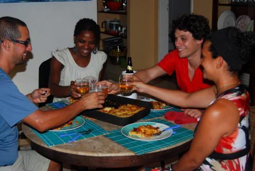 cena con Julien y Alice