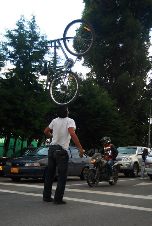 Malabaristas de la bicicleta