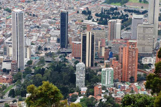 Bogotá desde el Cerro Monserrat
